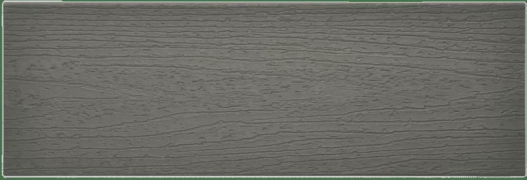 דוגמה ללוח דק סינטטי אפור (Clam Shell) -טרקס דקים סינתטיים חיפוי קירות חוץ סינטטיים דמוי עץ, התקנת דק סינטטי ומעקות חוץ סינטטיים דמוי עץ