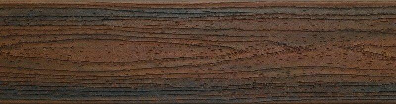 דוגמה ללוח דקים סינטטיים איפאה (Spiced Rum) - טרקס דקים סינתטיים חיפוי קירות חוץ סינטטיים דמוי עץ, התקנת דק סינטטי ומעקות חוץ סינטטיים דמוי עץ