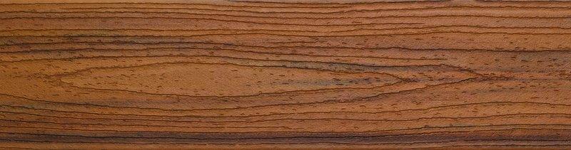 דוגמה ללוח דקים סינטטיים טיק (Tiki Torch) - טרקס דקים סינתטיים חיפוי קירות חוץ סינטטיים דמוי עץ, התקנת דק סינטטי ומעקות חוץ סינטטיים דמוי עץ