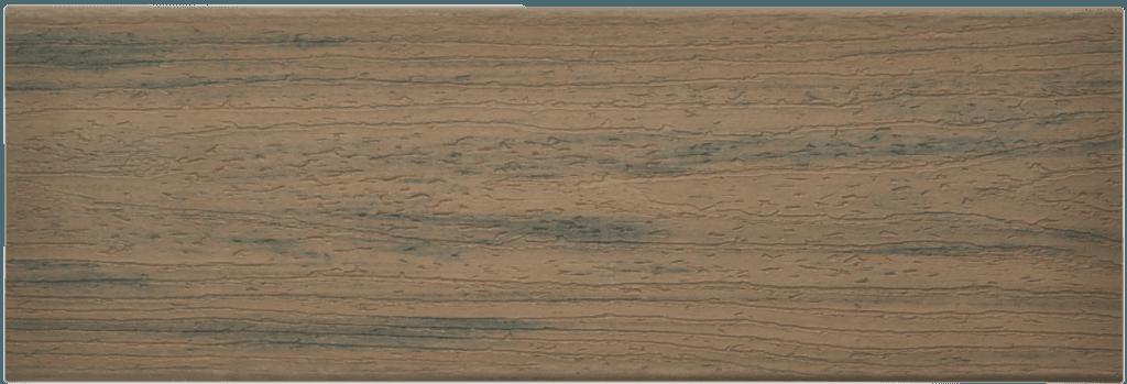 דוגמה ללוח דק סינטטי טיק בורמזי (Toasted Sand) - טרקס דקים סינתטיים חיפוי קירות חוץ סינטטיים דמוי עץ, התקנת דק סינטטי ומעקות חוץ סינטטיים דמוי עץ