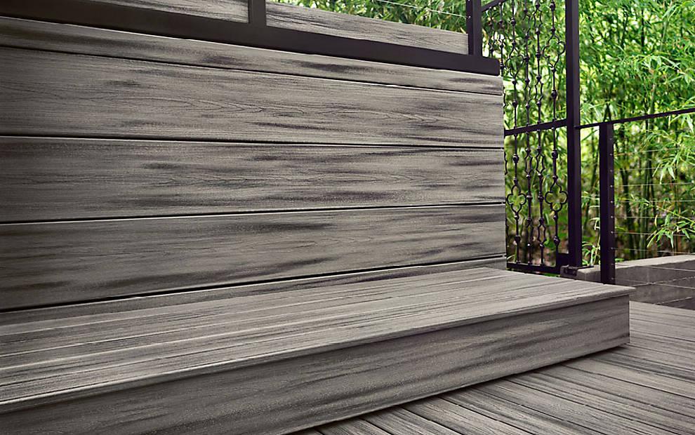 חיפוי עץ לקיר מחיר TREX - דקים סינטטיים, חיפוי קירות חוץ דמוי עץ, התקנת דקים סינטטיים ומעקות חוץ דמוי עץ