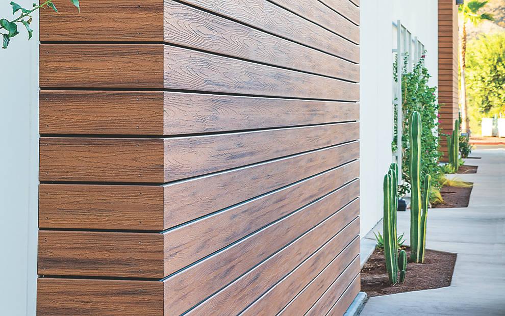 חיפוי קיר דמוי עץ של חברת טרקס- פתרון לכל קיר חיצוני
